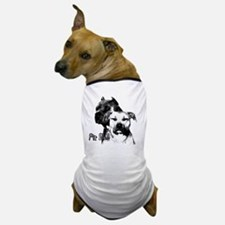 two heads pit bull design Dog T-Shirt