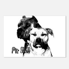 two heads pit bull design Postcards (Package of 8)