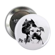 """two heads pit bull design 2.25"""" Button (10 pack)"""