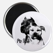 two heads pit bull design Magnet