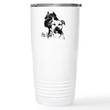 two heads pit bull design Travel Mug