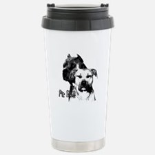 two heads pit bull design Travel Mug