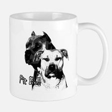 two heads pit bull design Mug