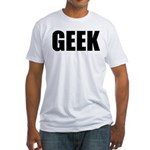 GEEK (Bold) Fitted T-Shirt
