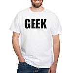 GEEK (Bold) Premium White T-Shirt