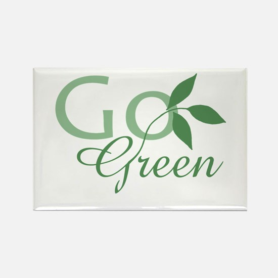 Go Green: Rectangle Magnet (10 pack)