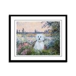 By the Seine/ Framed Panel Print