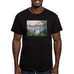 By the Seine/ Men's Fitted T-Shirt (dark)