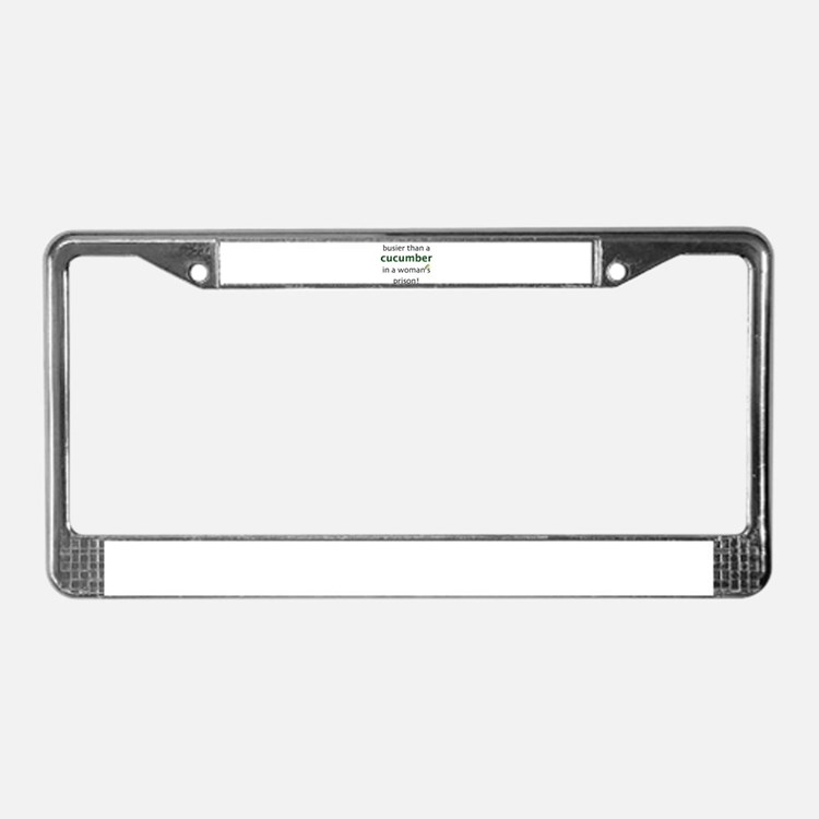 Cute Workaholic License Plate Frame