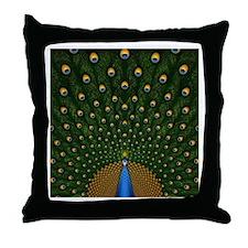 Peacock Pretty Pillows Throw Pillow