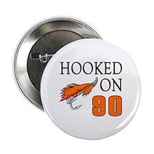 "90th Birthday Fisherman 2.25"" Button"