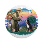 St Francis #2/ BMD Ornament (Round)