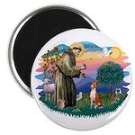 St Francis #2/ Basenji Magnet