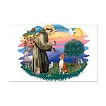 St Francis #2/ Basenji Mini Poster Print