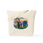 St Francis #2/ Basenji Tote Bag
