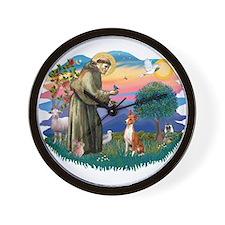 St Francis #2/ Basenji Wall Clock