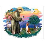 St Francis #2/ Basenji Small Poster