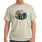 St Francis #2/ Basenji Light T-Shirt