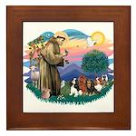 St Francis #2/ Cavaliers Framed Tile