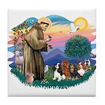 St Francis #2/ Cavaliers Tile Coaster