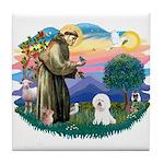 St Francis #2/ Bichon #1 Tile Coaster