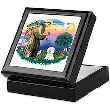 St Francis #2/ Bichon #1 Keepsake Box