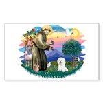 St Francis #2/ Bichon #1 Sticker (Rectangle)