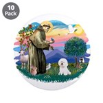 St Francis #2/ Bichon #1 3.5