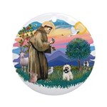St Francis #2/ Cairn T (#14) Ornament (Round)