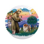 St Francis #2/ Chow (B) Ornament (Round)