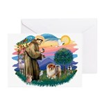 St Francis #2/ Chow (B) Greeting Cards (Pk of 20)