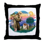 St Francis #2/ Chow (B) Throw Pillow