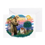 St Francis #2/ Chow (B) Greeting Card