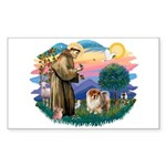 St Francis #2/ Chow (B) Sticker (Rectangle 10 pk)