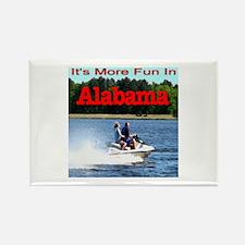 Jet Skiing Alabama Rectangle Magnet (100 pack)
