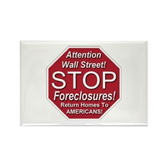 STOP Foreclosures Rectangle Magnet