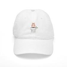 Give A Hoot Pink Ribbon Owl Baseball Cap