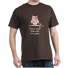 Give A Hoot Pink Ribbon Owl T-Shirt