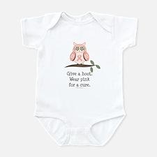 Give A Hoot Pink Ribbon Owl Infant Bodysuit