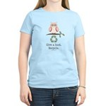Give A Hoot Recycle Women's Light T-Shirt
