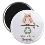 Give A Hoot Recycle Magnet