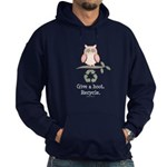 Give A Hoot Recycle Hoodie (dark)