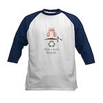Give A Hoot Recycle Kids Baseball Jersey