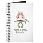 Give A Hoot Recycle Journal