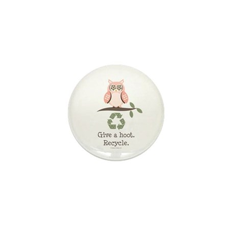 Give A Hoot Recycle Mini Button (100 pack)