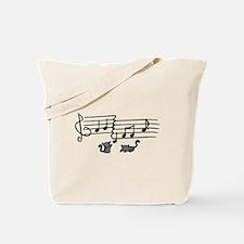 Black Kitty Notes Tote Bag