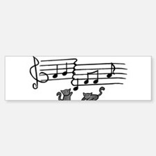 Black Kitty Notes Bumper Bumper Sticker