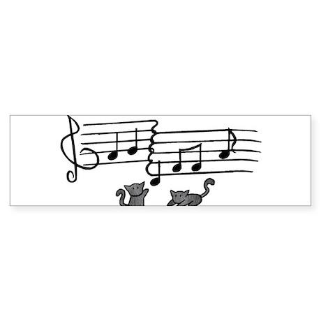 Black Kitty Notes Sticker (Bumper)