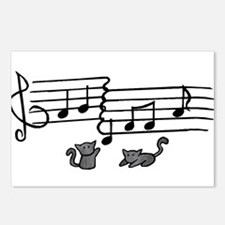Black Kitty Notes Postcards (Package of 8)