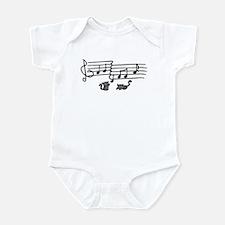 Black Kitty Notes Infant Bodysuit